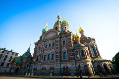 Spas-na-krovi cathedral in St.Petersburg Royalty Free Stock Images