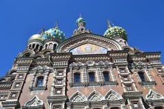 Spas-na-Krovi over blue sky Royalty Free Stock Photos