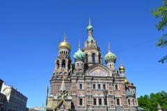 Spas-na-Krovi over blue sky Royalty Free Stock Photography