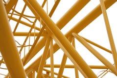 Spase Metallbinder gelb gefärbt Stockfotografie