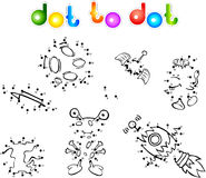 Spase set 1 dot to dot Royalty Free Stock Images