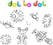 Spase set 1 dot to dot stock illustration