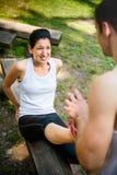 Spasmo - quando lo sport danneggia Fotografie Stock