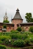 Spaso-Evfimiev`s men`s monastery is a monastery-fortress. Russia, Vladimir region, Suzdal, Lenin street , 06/06/2017 Royalty Free Stock Image