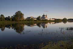 Spaso-Kazan Simansky Nunnery in Ostrov. Spaso-Kazan Simansky Nunnery in the russian town Ostrov, Pskov region. View from the other side of the river Velikaya stock images