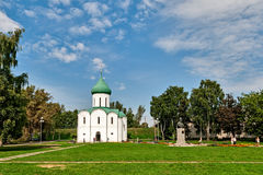Spaso-Preobrajensky cathedral in the city of Pereslavl-Zalessky. Royalty Free Stock Image
