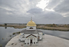 Spaso-Preobrazhenskaya Church in the tract Gasinci, Kyiv region Stock Photography