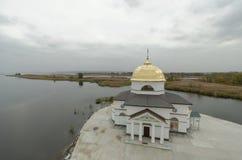 Spaso-Preobrazhenskaya kyrka i området Gasinci, Kyiv region Royaltyfri Foto