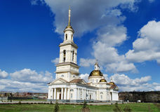 Spaso-Preobrazhenskiy cathedral in the city of Nevyansk, Russia Stock Images