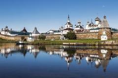 Spaso-Preobrazhensky το μοναστήρι Solovetsky Stavropegial στο νησί Bolshoi Solovetsky στην άσπρη θάλασσα arkhangelsk syuzma της Ρ Στοκ εικόνα με δικαίωμα ελεύθερης χρήσης