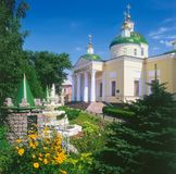 Spaso-Preobrazhensky domkyrka i Kropyvnytskyi, Ukraina Fotografering för Bildbyråer