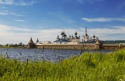 Spaso-Preobrazhensky the Solovetsky Stavropegial monastery on Bolshoy Solovetsky island in the White sea. Arkhangelsk region,. Russia stock photography