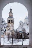 Spaso-Priluckiy monastery in winter. Vologda. Stock Photo
