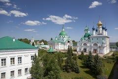 Spaso-Yakovlevski修道院看法在罗斯托夫 免版税库存照片
