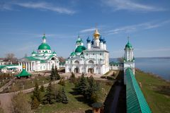 Spaso-yakovlevski Kloster in Rostov Stockfotografie