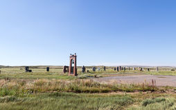Spassk,哈萨克斯坦- 2016年8月14日:对prisone的斯帕斯基纪念品 免版税图库摄影
