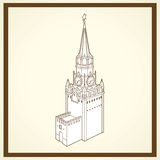 Spasskaja tower postcard Stock Photography