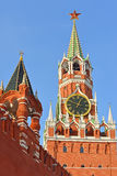 Spasskaya и имперские башни Москвы Кремля Стоковое Фото