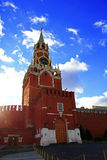 Spasskaya clock tower in the Kremlin Red Square Moscow Stock Photo