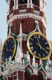 Spasskaya clock-tower, Moscow Kremlin Stock Photography
