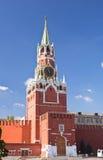 Spasskaya Kontrollturm in Moskau Kremlin Stockfotografie