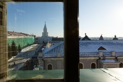 The Spasskaya Savior`s Tower, Kazan royalty free stock photography
