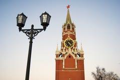 Spasskaya Saviors clock tower of Moscow Kremlin. Color photo royalty free stock image