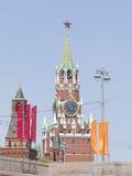 Spasskaya torn i Kreml Fotografering för Bildbyråer
