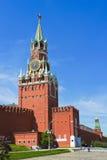 Spasskaya torn. Moscow Arkivfoton