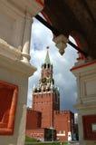 Spasskaya Towel of the Kremlin Moscow 2007. Spasskaya Tower (formerly - Frolovskaya Tower) - facing the Red Square is one of the 20 towers of the Kremlin. In the Royalty Free Stock Photos