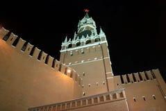Spasskaya Tower. Of Kremlin at night, illuminated Royalty Free Stock Images
