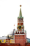 Spasskaya tower. A photo of Spasskaya tower. Red Square. Kremlin stock photo