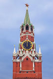 The Spasskaya tower with the chiming clock of the Kremlin Royalty Free Stock Photo