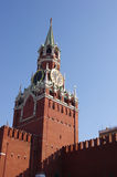 Spasskaya tower with clock, Kremlin. Moscow, Russia Royalty Free Stock Photo