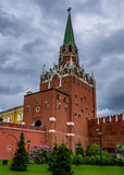 Spasskaya Tower Entrance. Spasskaya Tower as part of the impressive Kremlin wall in Moscow, Russia Stock Photography