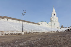 The Spasskaya tower in Kazan kremlin Stock Image