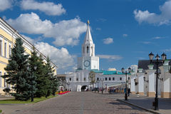 The Spasskaya Tower of the Kazan Kremlin Stock Images