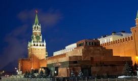 Spasskaya tower of Kremlin Stock Photos