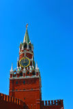 Spasskaya tower in Kremlin. Spasskaya clock tower in the Kremlin. One of the main attractions in Moscow Royalty Free Stock Photo