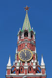 Spasskaya tower. Of the Kremlin in Moscow royalty free stock images