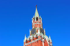 Spasskaya Tower in the Kremlin Stock Photo