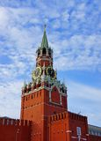 Spasskaya Tower of Kremlin. Spasskaya Tower of Moscow Kremlin on a background of blue sky Royalty Free Stock Photography