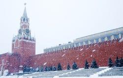 Spasskaya Tower of Kremlin in Moscow. Russia kremlin spasskaya moscow tower history square Stock Photos