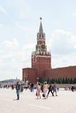 Spasskaya Tower of Kremlin at Re Stock Photo