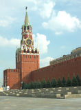 Spasskaya Tower and Kremlin wall in Moscow Royalty Free Stock Images