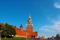 Spasskaya tower in Moscow Stock Photo