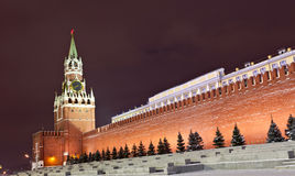 Spasskaya tower of Moscow Kremlin Stock Image