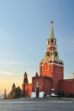 Spasskaya tower of Moscow Kremlin. Spasskaya tower of Kremlin in Moscow Stock Photos