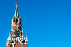 Spasskaya tower of the Moscow Kremlin. Royalty Free Stock Image