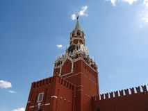Spasskaya tower in Moscow Stock Photography